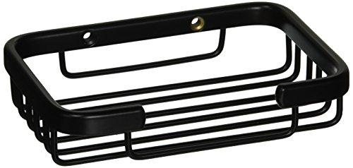 Allied Brass BSK-30SR-BKM Solid Rectangular Shower Basket, Matte Black - Solid Brass Rectangular Shower Basket