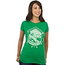 JINX Minecraft Women's Overworld Linocut Print Premium Cotton/Poly T-Shirt