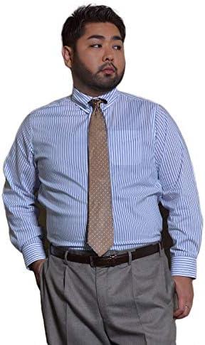 (リベレートン) ストレッチドレスシャツ ブルーストライプ(XL~XMサイズ) PT-005