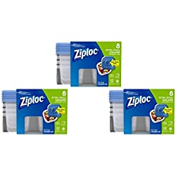 Ziploc 4 oz Extra Small Square Container with One Press Sea, 24 count