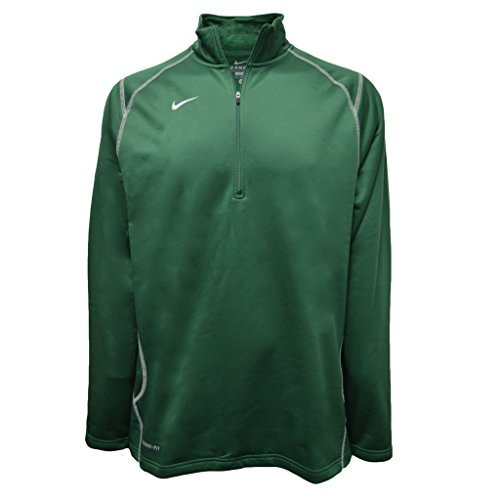 Nike Men's 1/4 Zip Fleece Jacket, Green, XL