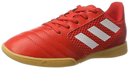 adidas Ace 17.4 Sala J, Botas de Fútbol Unisex Niños Rojo (Red/footwear White/scarle)
