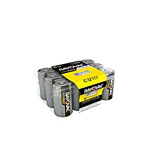 Rayovac C Batteries, Ultra Pro Alkaline C Cell Batteries (12 Battery Count) (B0006HUVXI) | Amazon Products
