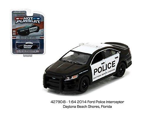 GREENLIGHT 1:64 2014 FORD POLICE INTERCEPTOR DAYTONA BEACH SHORES, FLORIDA 42790-B