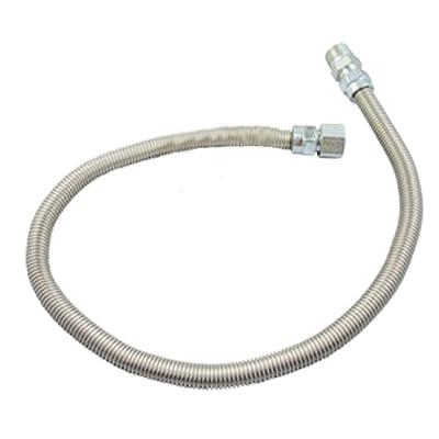 HomeFlex HFHC-8K-36 Heater Connector, 3/8-Inch FIP x 1/2-Inch FIP Gas Valve x 36-Inch