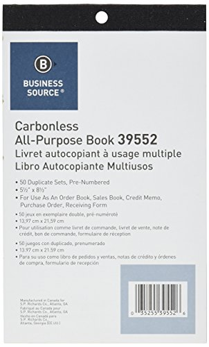 Amazon.Com : All-Purpose Forms Book - Duplicate - 50 Sheets (39552