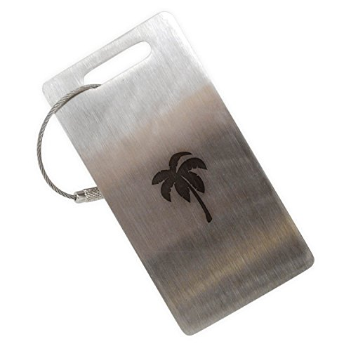 - Palm Tree Stainless Steel Luggage Tag, Luggage Tag