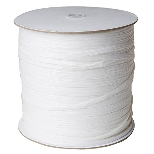 Jillson Roberts .25'' x 1000 Yard Bulk Spool Paper Raffia Ribbon Available in 16 Colors, White by Jillson Roberts