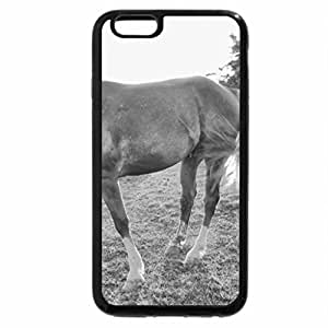 iPhone 6S Case, iPhone 6 Case (Black & White) - Twilight Supper in the Pasture