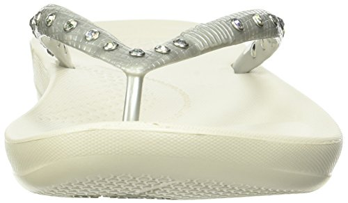 FitFlop Sandals K39 011 IQUSHION Silver Toe Post Womens 4 qxXFqr05w