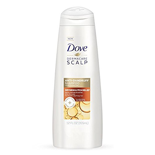 Dove Dermacare Scapl Anti-Dandruff Shampoo, Dryness & Itch Relief, 12 fl oz (Pack of 2)