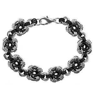 Weave Got Maille Onyx Swirls Chain Maille Bracelet Kit