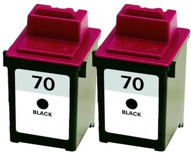 (Axiom 2Pack Remanufactured Lexmark 12A1970 #70 Black Ink Cartridge For Lexmark Z Series Z11 Z31 Z42 Z43 Z45 Z51 Z52 Z53 Z54 Z80 Z82 Z703 Z710)