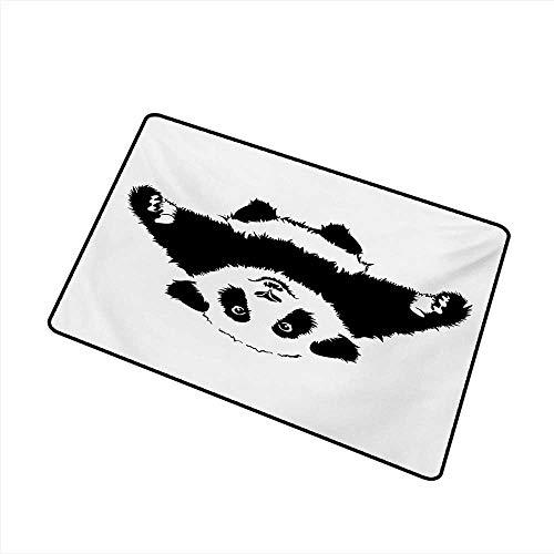 - Outdoor Door mat Panda Funny Panda Wants to Hug and Cuddle Adorable Friendly Cartoon Illustration Print W30 xL39 Environmental Protection