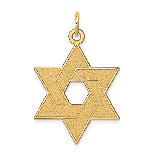 - Star of David Necklace - ICE CARATS 14kt Yellow Gold Laser Designed Jewish Jewelry Star Of David Pendant Charm Necklace Religious Judaica Fine Jewelry Ideal Gifts For Women Gift Set From Heart