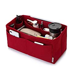 Material: Felt Fabric Purse Organizer with high-qualityColor: Beige, Red, Black, Grey, Four Colors for chooseThree Size:Medium: 10.2*6.3*5.1inch---Fits LV Speedy 30 perfectly Large: 11.8*6.5*6.2inch---fit fits Speedy 35 and Neverfull MM perfe...