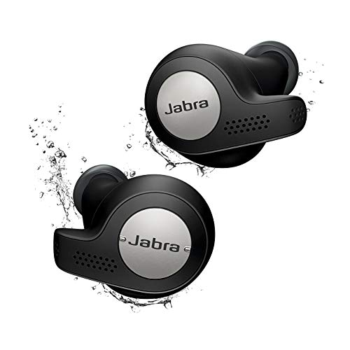 Jabra Elite Active 65t Alexa Enabled True Wireless Sports Earbuds with Charging Case - Titanium Black (Renewed)