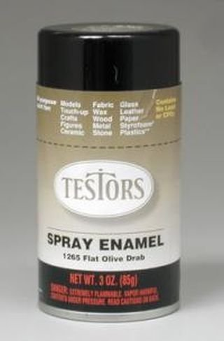 Testor Corp. Flat Army Olive Enamel Paint 3oz Spray Can