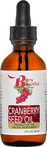 Cranberry Seed Oil - Cold Pressed by Berry Beautiful from US grown Cranberries - 100% Pure & Unrefined (2 fl oz)