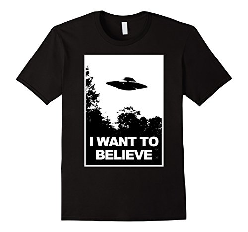Mens I Want To Believe T Shirt 3Xl Black