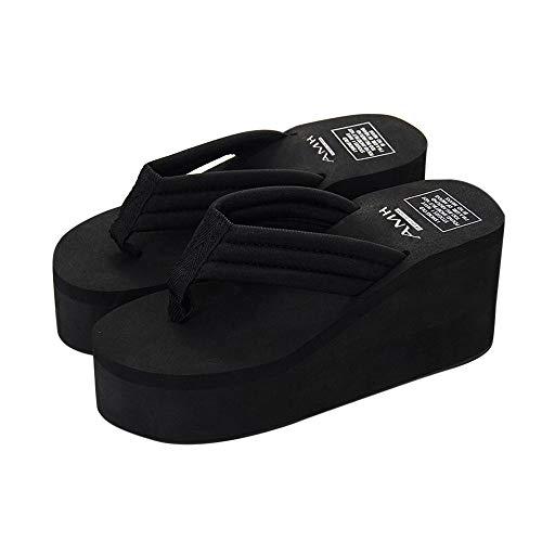 Sandali Piattaforma Donna Pantofola Scarpe Spiaggia Slipsole Pantofola Estate Nero 0rnnXwxq5