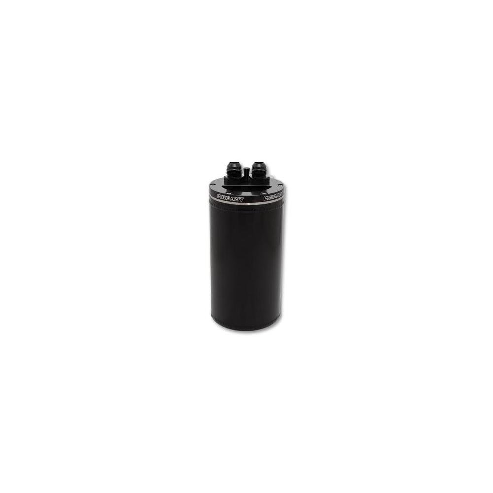 Vibrant 4in OD Universal Catch Can 2.0 w/ Integrated Filter Aluminum - Anodized Black (12695)