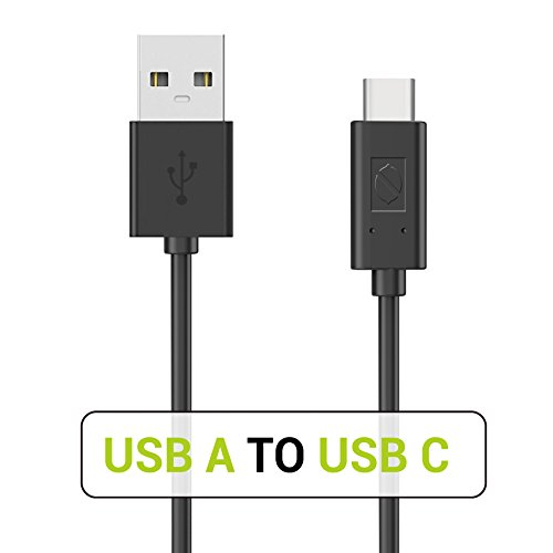 USB Type C Cable, ZeroLemon USB C to USB A 3.3ft Fast Charging Sync Cable for Galaxy S9 S8 Plus, Note 9/8, MacBook Pro, Pixel 3, 2018 iPad Pro 11 12.9 and More (Black)