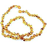 Healing Hazel 100% Baltic Amber Adult Necklace - Cognac Polished 18-20