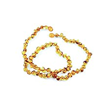 Healing Hazel 100-Percent Baltic Amber Adult Necklace Cognac Polished 18-Inch-20-Inch