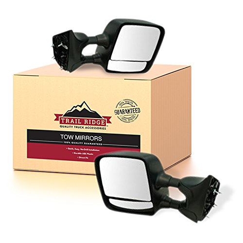 Trail Ridge Towing Mirror Manual Chrome Pair Set of 2 for Nissan Titan