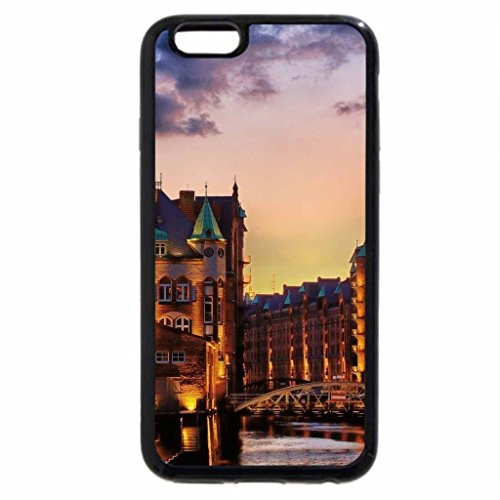 iPhone 6S / iPhone 6 Case (Black) beautiful city at sunset