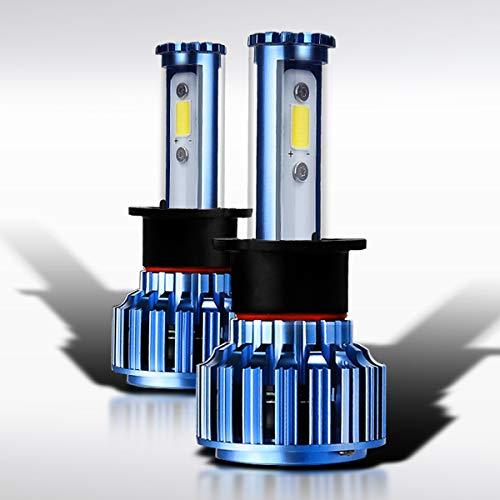 Autozensation Super White Automotive Cree 6000k LED Conversion Kit Pair Headlight Bulbs H1