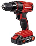 Einhell TC-CD 18-2 Li 18 V Cordless Drill Driver Kit with 1 x 1.5 Ah Battery - Red