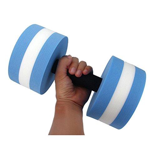 WINOMO Aquatic Exercise Dumbells Water Barbells Hand Bar For Water Resistance Aerobics