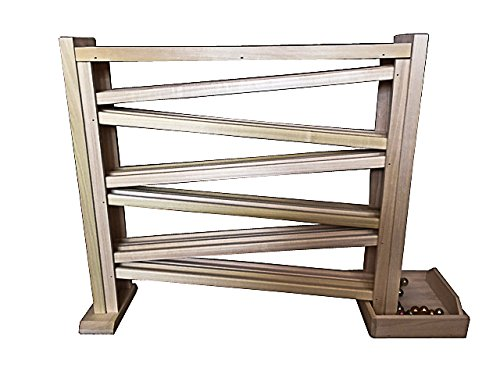 (Wooden Double Marble Run / Roller Track, 18