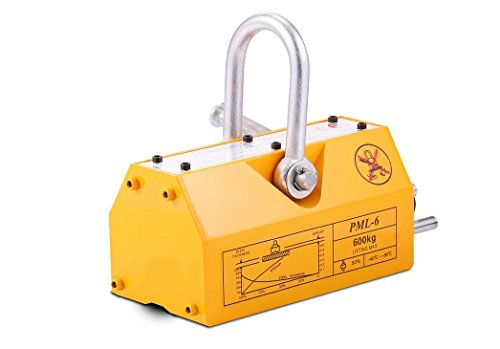 Mophorn Steel Magnetic Lifter 600KG Metal Lifting Magnet 1320 LB Magnetic Lift Hoist Shop Crane for heavy duty