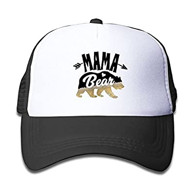 Kid Mama Deer Bear Beer Caps Printed New Style Mesh Caps Adjustable Snapback Baseball Cap for Boy and Girl by JXSED