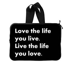 """19 Customized Love The Life You Live New Diy Design For New Laptop Sleeve 13""""(Twin Sides) GF-144"""