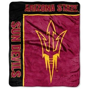 - Officially Licensed NCAA Arizona State Sun Devils School Spirit Plush Raschel Throw Blanket, 50