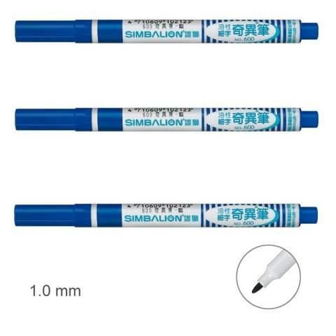 Fine Marker Permanent Pen 1.0mm Simbalion CHOOSE YOUR COLOR Black Blue Red No600