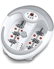 Beurer FB 50 fotbad, med fotreflexzonmassage, pediyrinsatser, vattenuppvärmning, spolmassage, infraröda ljuspunkter och magnetfältsanvändning