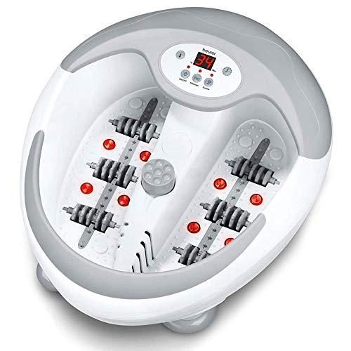 Beurer FB50 – HidroMasaje para pies multifunción, pantallaLED, color blanco y gris