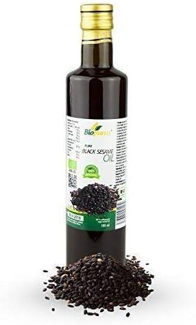 Negro aceite de sésamo orgánico certificado prensado en frío 500ml biopurus