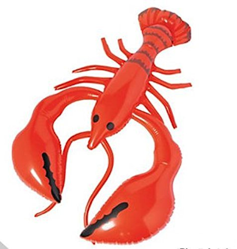 Inflatable GIANT Lobster Pool Float/Party decorations - 28 INCHES L x 44 INCHES W (inflated size) by fun express