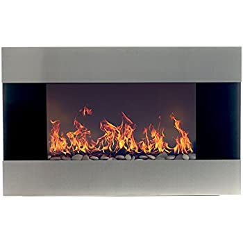 Amazon.com: Electric Fireplace Wall Mounted, LED Fire and Ice ...