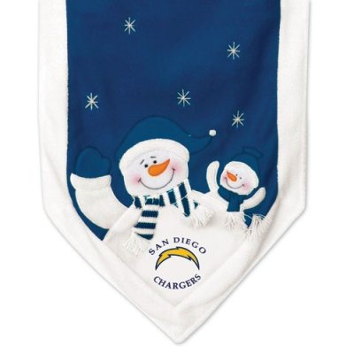 (SC Sports San Diego Chargers Snowman Table Runner )