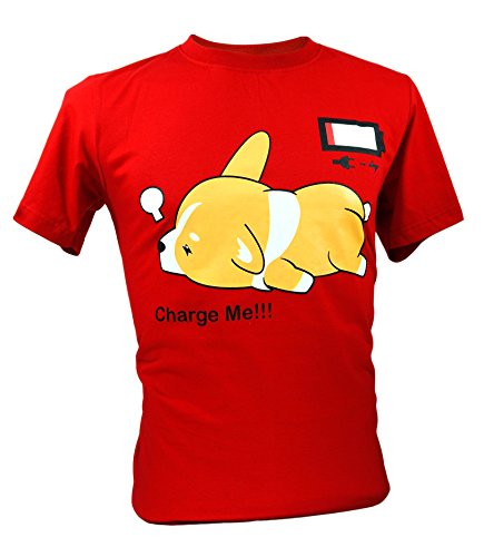 Immortal Unisex Corgi Cute Puppy Low Battery Funny T-shirt (Large, (Highland Notepad)