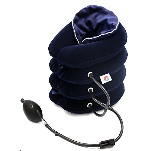 ChiFit Cervical Neck Traction Device, Neck Posture, 4 Layer Neck Stretcher for Pain Relieving Remedy Chronic Neck & Shoulder Alignment Pain,with Soft Washable Flannel Cover, (New Cervical Neck Traction)