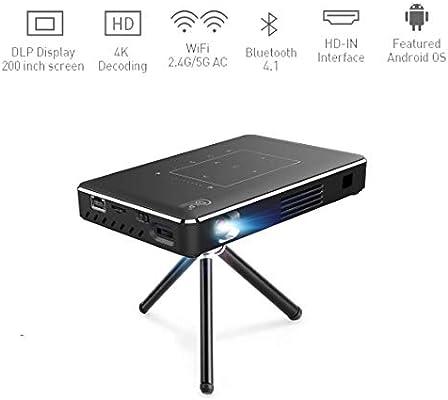 Proyector portátil, 4K Ultra HD Mini Smart WiFi DLP Proyector de ...