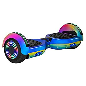 "NHT 6.5"" Hoverboard Electric Self Balancing Scooter with Sidelights & Bluetooth - UL2272 Certified Rainbow"